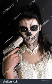woman mask halloween young woman day dead mask skull stock photo 131782415 shutterstock