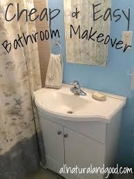 Easy Bathroom Makeover Cheap U0026 Easy Bathroom Makeover All Natural U0026 Good