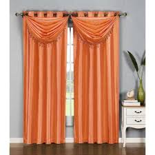 Orange Panel Curtains Orange Panel Curtains Aurora Home Thermal Insulated Blackout