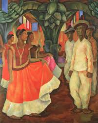 Diego Rivera Rockefeller Center Mural Controversy by Diego Rivera Dance In Tehuantepec 1928 Artsy