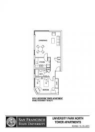 3 bedroom apartment san francisco university park north sf state housing