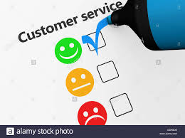customer service happy feedback rating checklist and business