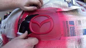 mazda 3 logo mazda 3 logo red and black plastidip youtube