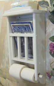 Toilet Paper Shelf White Magazine Rack With Toilet Paper Tissue Holder And Shelf