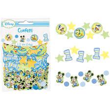 baby mickey 1st birthday mickey mouse 1st birthday confetti value pack 3 types