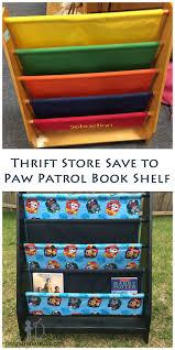 thrift store save paw patrol book shelf paw patrol books paw