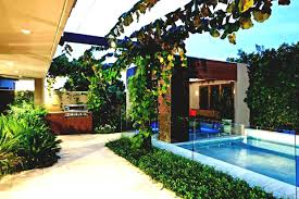 tropical front yard landscaping plans ideas photo x home designs