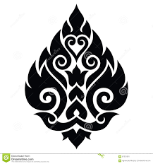 traditional design thai art pattern traditional design form thailand stock