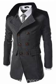 double breasted casual men s coat ericdress