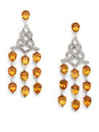 Citrine Chandelier Earrings Lyst Hardy Classic Chain Citrine Sterling Silver
