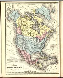 Maps North America by 1858 North America From Mitchell Atlas Scanned Maps