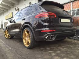 Porsche Cayenne Rims - porsche cayenne turbo with hre tr45 in satin gold hre