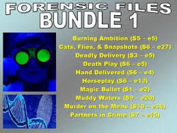 forensic files bundle 1 10 video worksheets and more