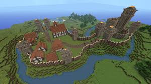 minecraft building ideas motte and bailey castle
