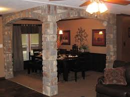 interior columns for homes in vogue square brick interior columns with ceiling fan lights as