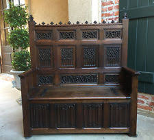 Antique Hall Bench Gothic Antique Benches U0026 Stools 1800 1899 Ebay