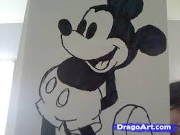 how to draw mickey mouse step by step disney characters