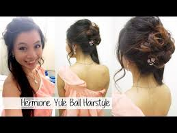 hermione yule ball hairstyle hermione granger yule ball hairstyle l formal updo with curls