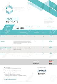 Free Cheque Template Invoice Template Design Royalty Free Cliparts Vectors And Stock