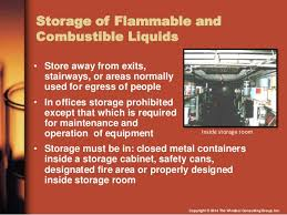 what should be stored in a flammable storage cabinet osha compliance with flammable and combustible liquids