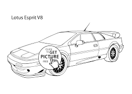 car lotus esprit v8 coloring page cool car printable free