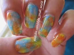style small world easy and simple nail art design without