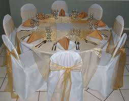 gold chair sashes gold organza sashes s party rental