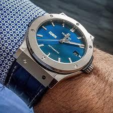 blue titanium bracelet hublot images Hublot classic fusion titanium blue 45mm dubai edition by jpg