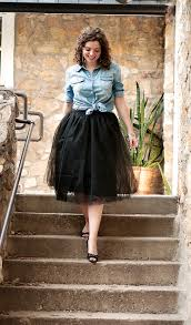 what i wore shabby apple tulle skirt the adored life
