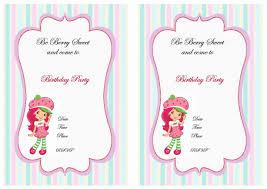 printable birthday invitations strawberry shortcake strawberry shortcake birthday invitations birthday party