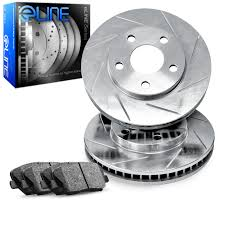 front eline slotted brake rotors u0026 ceramic brake pads fes 61015 02