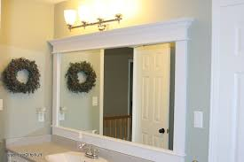 Framed Bathroom Mirrors Ideas Bathroom Mirror Ideas Diy Brown Teak Vanity Cabinet Beige