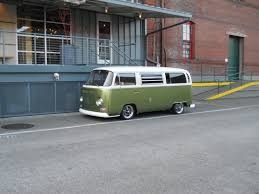 green volkswagen van green vws in portland