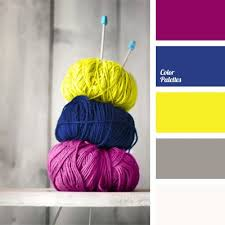 do the colors purple gray match well in clothes fashion contrast combinations of saturated yellow blue and aubergine colors