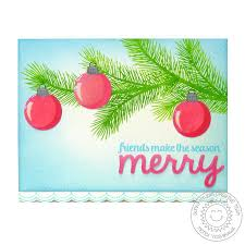holiday style 4x6 photo polymer clear stamps sunny studio stamps
