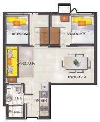 Bedroom Floor Plan Smdc Sun Residences Condominium Philippines
