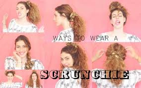 ways to wear a scrunchie pixie and pixier youtube