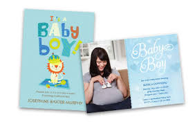 announcement cards baby cards premium shower announcement cards costco photo center