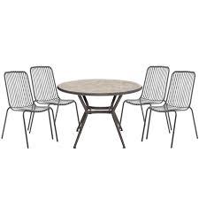 B Q Bistro Chairs Silene Metal 4 Seater Bistro Set Departments Diy At B U0026q