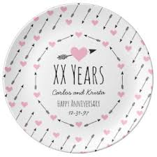 25th anniversary plates personalized 65th wedding anniversary plates zazzle