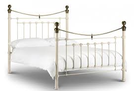 Brass Double Bed Frame Julian Bowen Victoria Metal Bed Frames Stone White Or Black