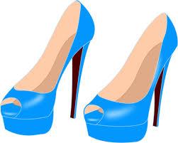 Light Blue High Heels Light Blue High Heels Public Domain Vectors