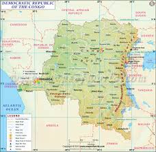 Map Of Africa With Capitals by Dr Congo Map Map Of Democratic Republic Of Congo