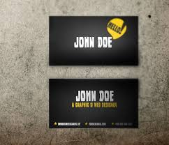 yellow and black business card template