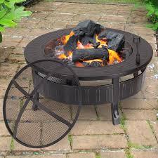 wood burning fire table adecotrading sheet steel wood burning fire pit table reviews wayfair