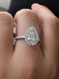 1 carat halo engagement ring 1 09ct pear shape ring