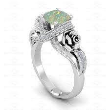 opal and diamond engagement rings l amour 1 65ct opal diamond white gold engagement ring