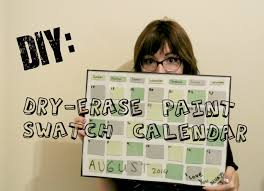 Black Paint Swatch Diy Erasable Paint Swatch Calendar Youtube
