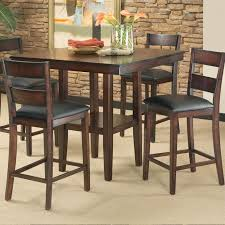 High Dining Room Tables And Chairs Counter Height Pub Table And Stool Set