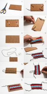 how to make weaved yarn on cardboard cutouts for kids we love